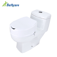 Foshan Plastic Elderly Commode 6 inch Elevated Elongated Raised Toilet Seat With Lid