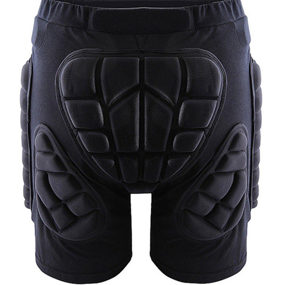 Protective Shorts,LOPEZ New Padded Shorts Protective Skiing Gear Hip Anti-drop Protection Sports Pants for Adults Children Ski Skate Snowboard Skating Skiing