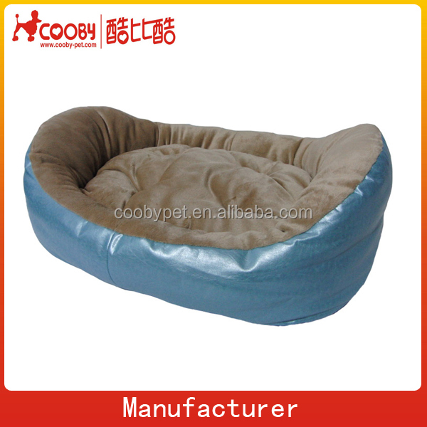 boat shaped oval pet bed, american pet bed designs, luxury PU pet bed