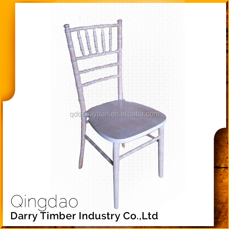 Good quality cheap wood white outdoor wedding banquet chair for sale