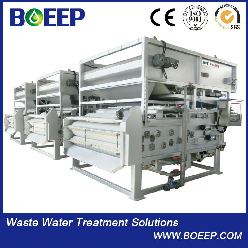 Automatic Belt Filter Press Used For Municipal Solid Waste Treatment
