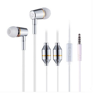 Hot colorful metal earphone, metallic earphone headphone, earbud