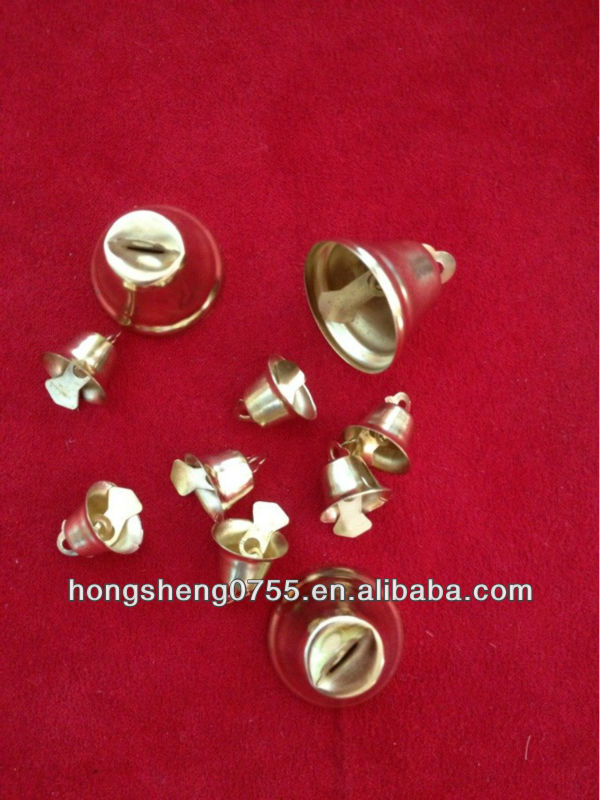 Horn shaped bells for decoration with gold color from china factory