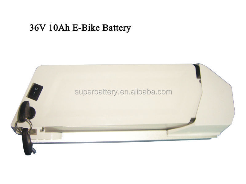 (SR-Li10000) Lithium ion 10000mah li-ion rechargeable 36v 10ah electric bike li ion battery