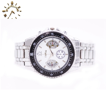 Top Sale white dial with UP labling bracelet leather watch men's watch wristwatch