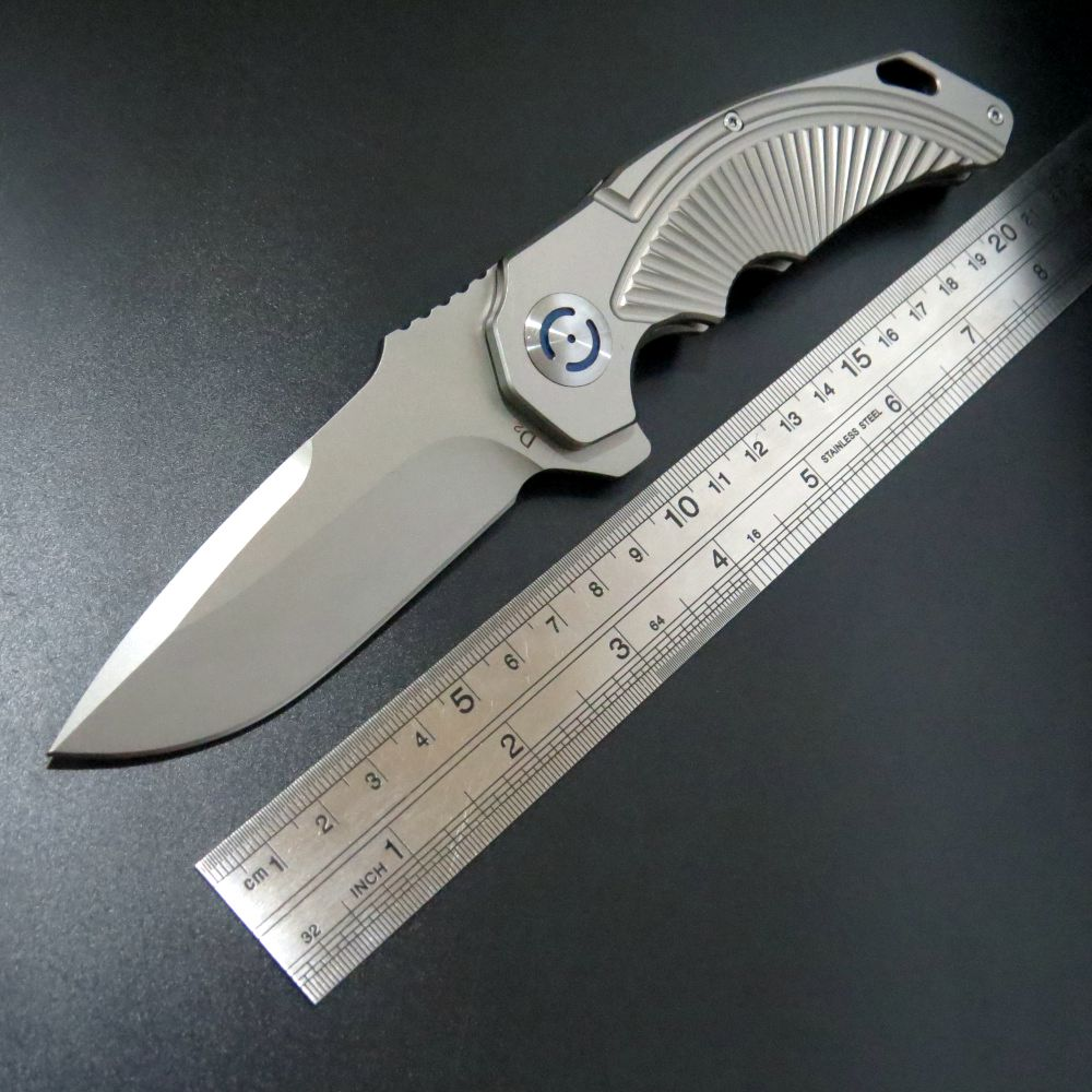 Pocket Knives for Sale, CS-2 Cutting Knife D2 Steel Blade Steel Handle Quick Open Folding Knife