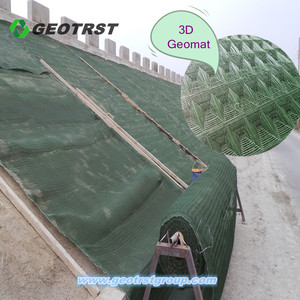 Best selling items 3d fabric mesh erosion mat for slope protection control plastic drainage Weed