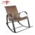 Vintage Designer Outdoor Villa Back Yard Wicker Rattan Aluminum Rocking Chair