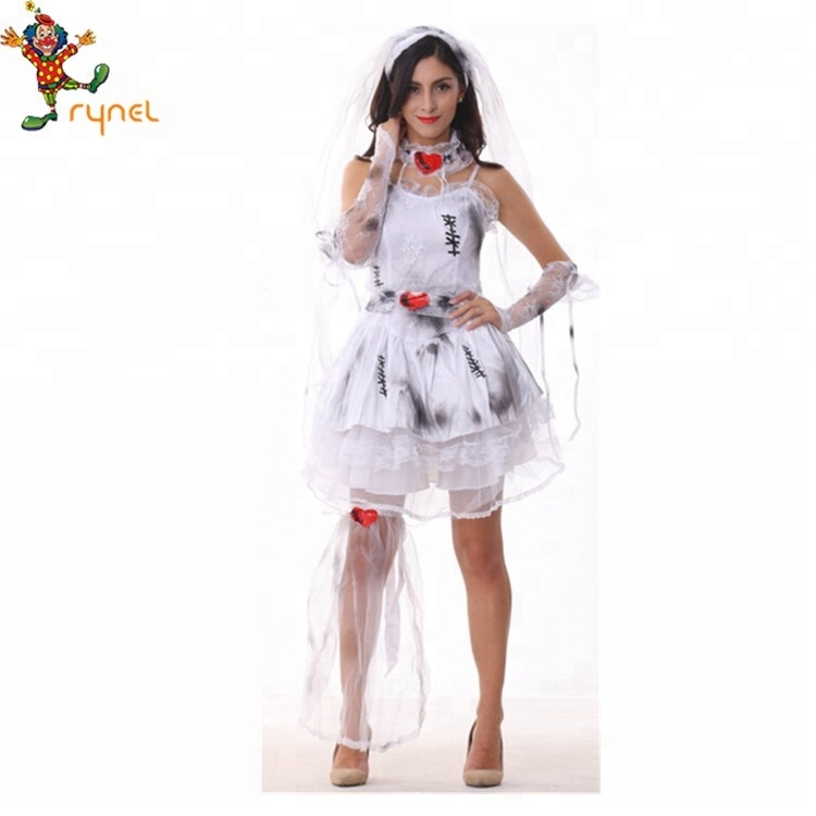Pgwc1421 Adult Ladies Zombie Gothic Dress Corpse Bride Halloween Fancy  Dress Costume , Buy Zombie Bride Costume,Gothic Dress Costume,Halloween  Fancy