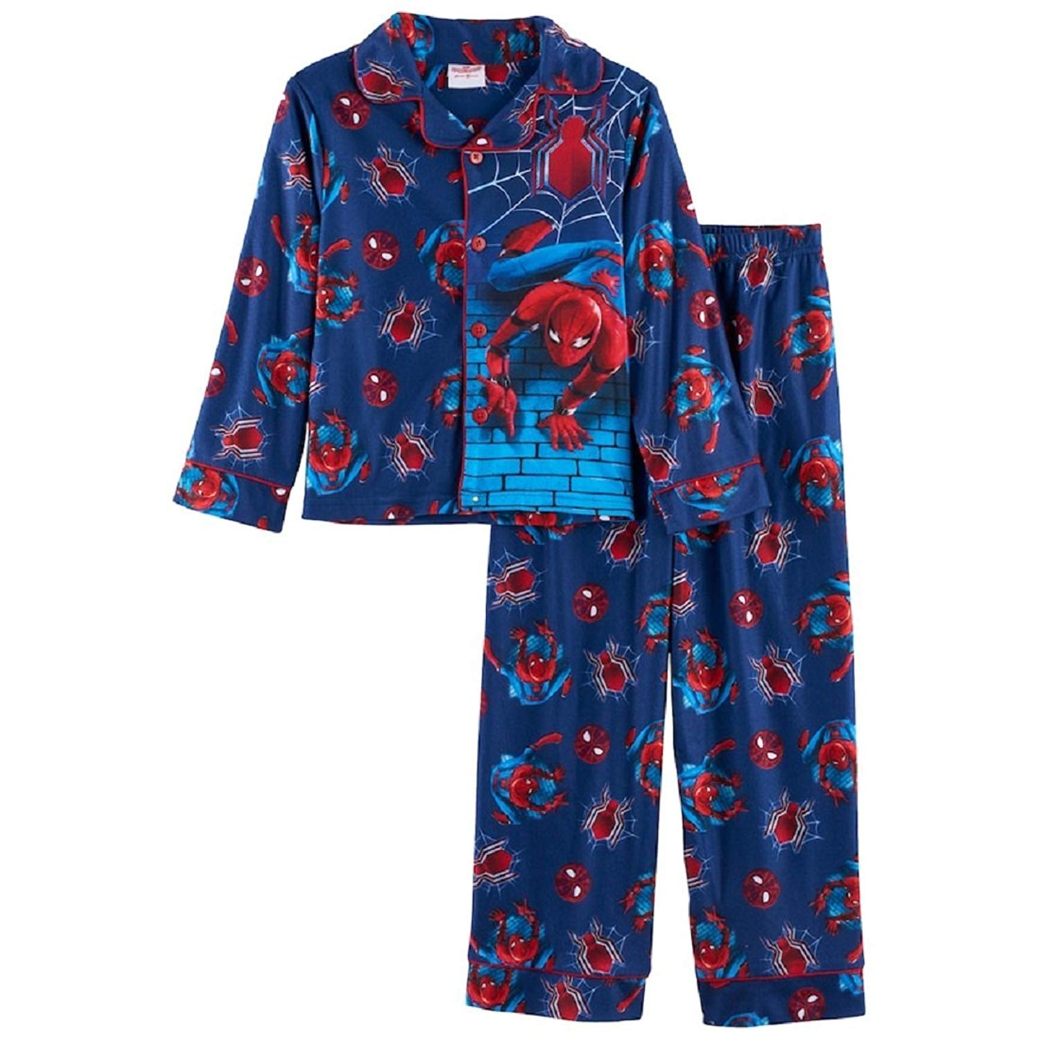 Marvel Spider-Man Boys Size 4-8 2-Piece Pajama Set