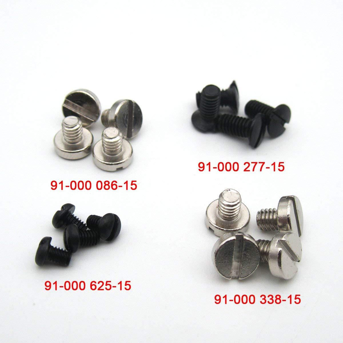 KUNPENG -4SET Screws # 335 Screws 4SET FIT for PFAFF 335 335G Needle Plate& Base&Feed Dog&Position Finger