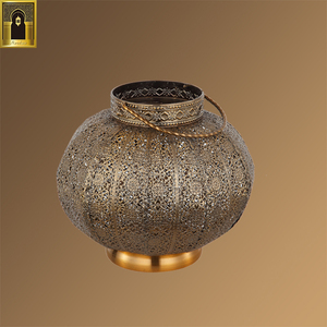 Different specifications mini vintage Muslim style chandelier light metal iron handmade candle holder moroccan hanging lantern