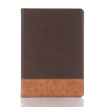 Cross patterned pu leather smart cover for ipad 10.5 inch universal leather wallet case for iPad