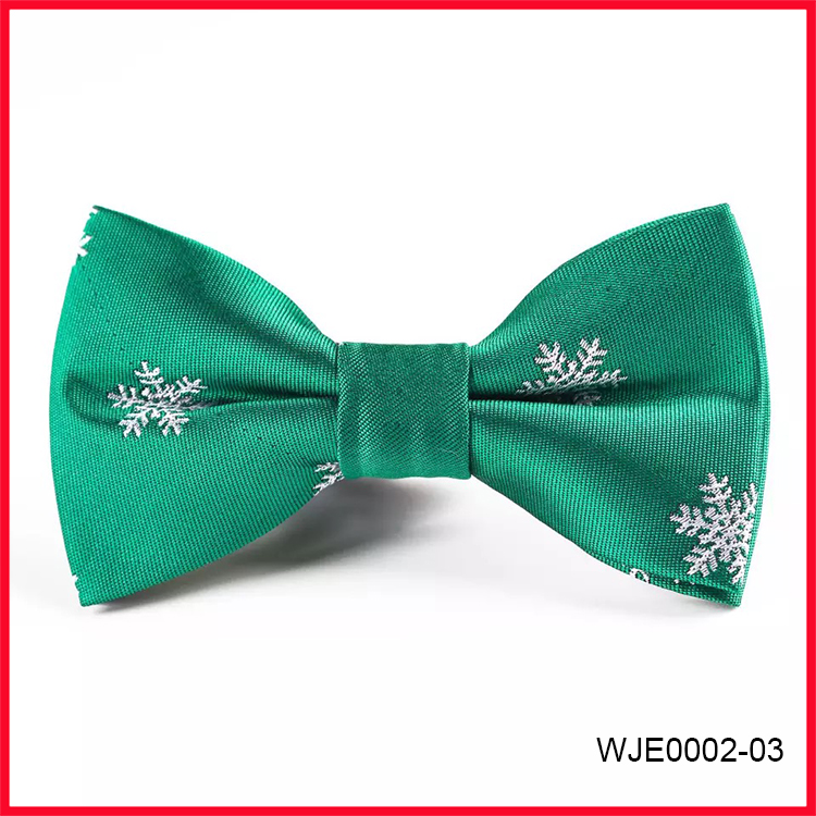 Fashion Christmas Snow Patterns Red Bow Ties for Men