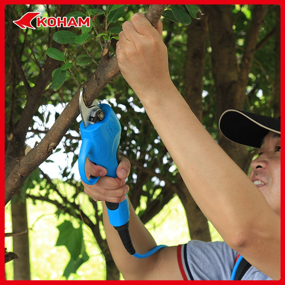 Battery powered pruning shears for heavy duty cuting grape scissors grafting tool in garden commercial electric hand tools