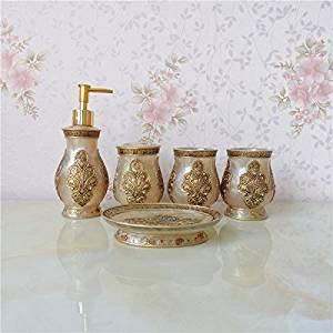 SBWYLT-Beautiful bathroom to wash resin set five sets home bathroom mouthwash wash set-bathroom home bathroom