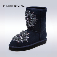 BASSIRIANA – women's fashion black high boots, low heel