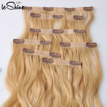 Best Seller Double Drawn Europea Clip In Hair Extension White Women