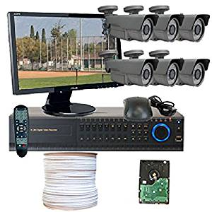 GW High End HD-SDI CCTV Surveillance Security Camera System, FREE LED Monitor & FREE HDMI Cable, 8 Channel HD-SDI High Definition DVR 2TB HDD 1080P Real Time Preview, 6 HD-SDI Cameras 2.1 Megapixel 1080P Vari-Focal Lens 72 IR LEDs, iPhone Android Viewable