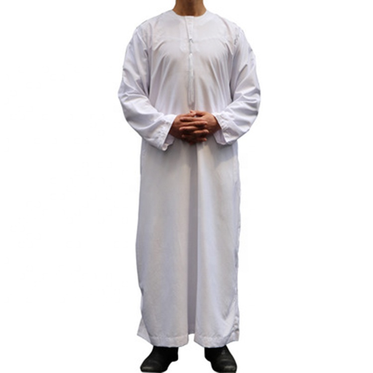 China Yiwu manufacturer Round neck Arab robes al aseel thobe dubai haramain thobe for men