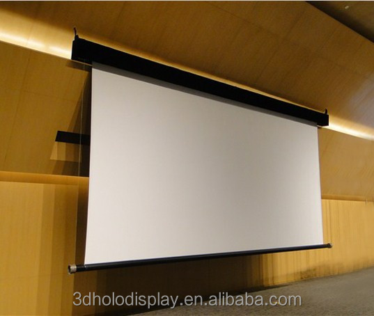 250 ceiling mount large electric projection screen for Motorized retractable projector screen
