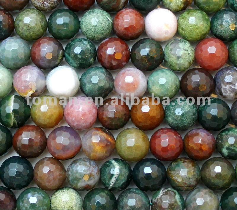 10mm round faceted indian agate drilling semi precious stones