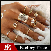 New 9 pcs/set Vintage Silver Color Ring Sets Antique Midi Finger Rings for Women Steampunk Turkish Party Boho Knuckle Ring