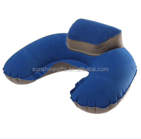 Inflatable Travel Pillow Air Cushion Neck Rest U-Shaped Compact Plane Flight