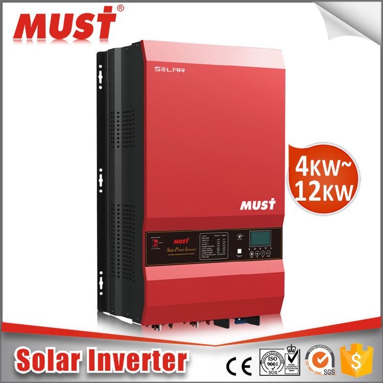 DC to AC Power Inverter 4000w 5000w 6000w 8000W 10KW 12KW Hybrid solar pure sine wave inverter