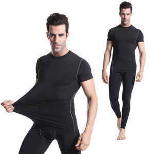 Summer Fitness Men Running Training Clothes Wholesale Gym Wear,Men OEM Logo Sport Shirt Short Sleeve