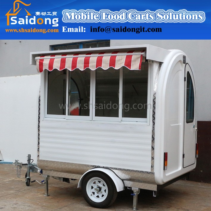 The factory manufacturer supply CE approved mobile food cart made in china