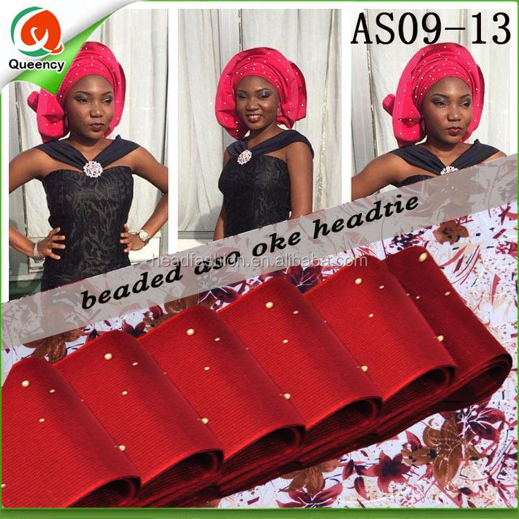 Red Aso Oke Headtie d32e9c3df6ec