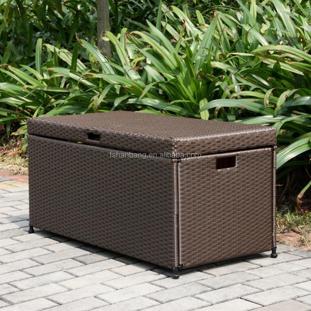 Plastic Rattan Waterproof Outdoor Garden Cushion Storage