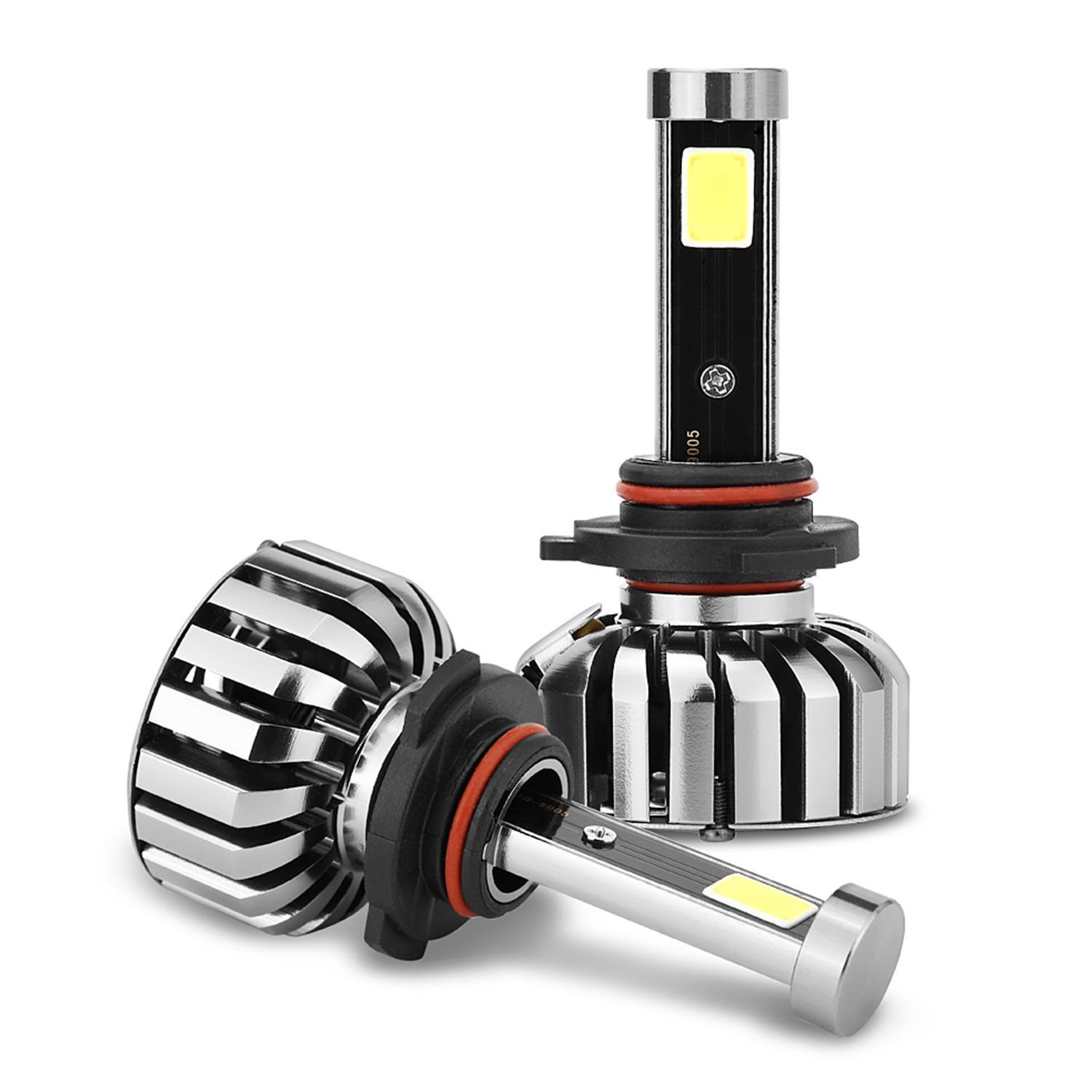 1 Pair N7 80W 8000LM Waterproof COB Car LED Headlight Head Light Bulbs Replacement Kit with High Brightness Plug And Play for HB3 9005 H10