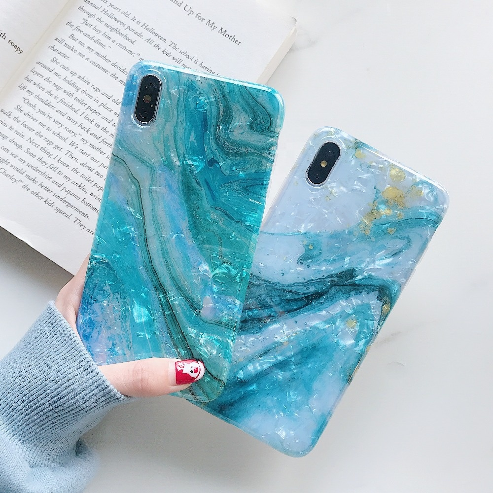 New Products Natural TPU Silicone Phone Cover Print Marble Phone Case for iPhone 11