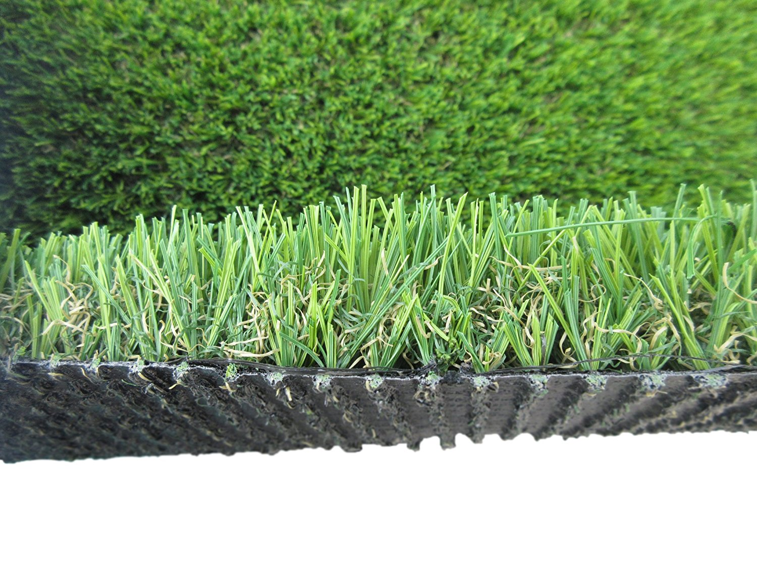 PZG Commerical Artificial Grass Patch w/ Drainage Holes & Rubber Backing | Heavy & Durable Turf | Lead-Free Fake Grass for Dogs or Outdoor Decor | Total Wt. - 83 oz & Face Wt. 55 oz | Roll 82' x 15'