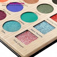 Private label makeup cosmetics no brand low moq wholesale 25color pressed bright color eyeshadow palette