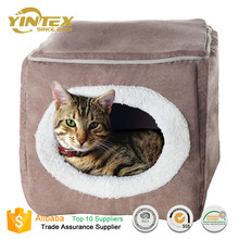 2017 New style cheap enclosed Cube Pet Bed for Cat, small dog