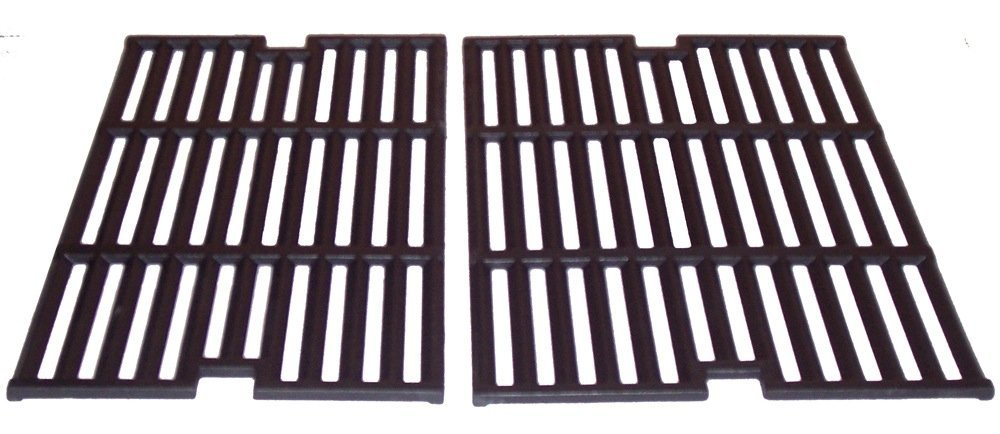 Music City Metals 64022 Matte Cast Iron Cooking Grid Replacement for Gas Grill Model Outdoor Gourmet BQ04022, Set of 2