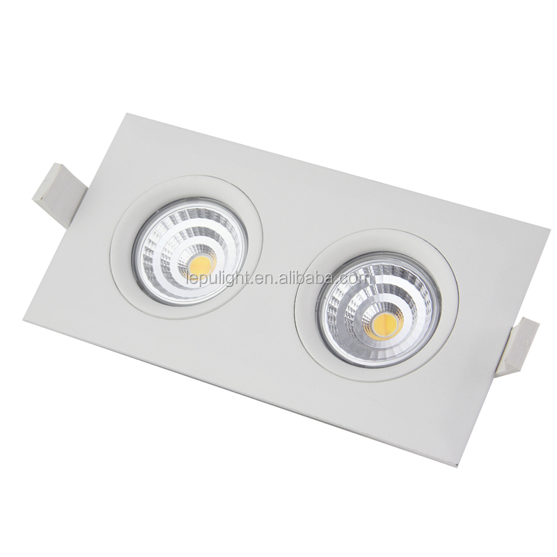 HOT SALE 2017 square 2 led GYRO recessed cob led downlight dimma legrand downlight led anti-glare