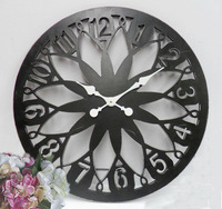 Lattest Antique Metal Pattern Clocks Round Skeleton Wall Clock