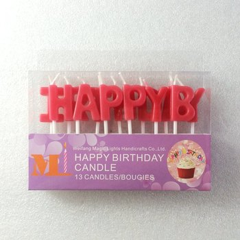 QuotHAPPY BIRTHDAYquot Stick Letters Set Birthday Cake Candle