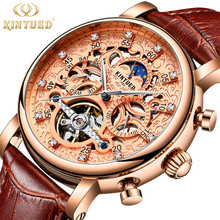 Kinyued Luxury Mens Skeleton <span class=keywords><strong>นาฬิกา</strong></span>กลไกอัตโนมัตินาฬิกาหรูหรา