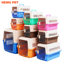 2017 hemu high quality portable two door load crate for plastic pet carrier
