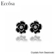 Eccosa The flower shape good quality tin alloy material fashion earring with Crystals from Swarovski Women jewelry