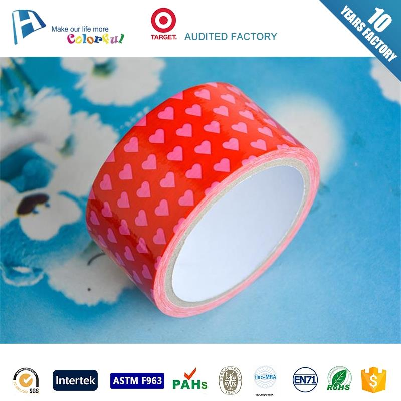 in stock colorful handcraft customer printed duct tape for repairing wide varieties