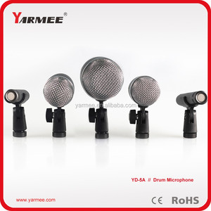 Yarmee Professsional Musical Condenser Dynamic Drum Microphone Set / Kick Drum Mic