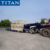 Dolly towing low bed semi trailer , low deck truck trailer, lowboy trailer for sale