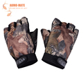 Fishing Accessory Camouflage Cotton Anti slip Breathable Durable Half Fingers Fishing Gloves Fit For Fishing Outdoor