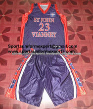Sublimation fully Customized basketball uniforms in Dazzle